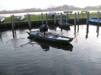Dick heeft zijn boot in de haven van de vereniging liggen in Kolk De Noord