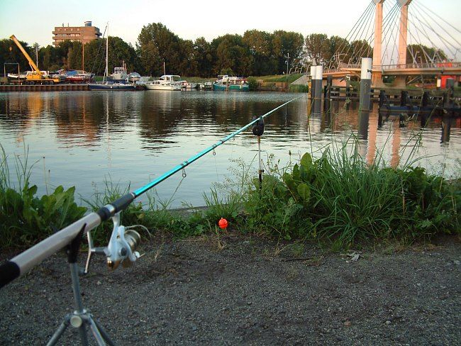 Heerlijk rustig na het werk tijdens de lange zomer avonden nog even op de roofvis