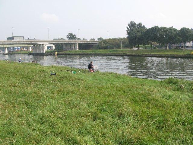 Het trajekt voor de vaste stok langs het Zwolle-IJsselkanaal