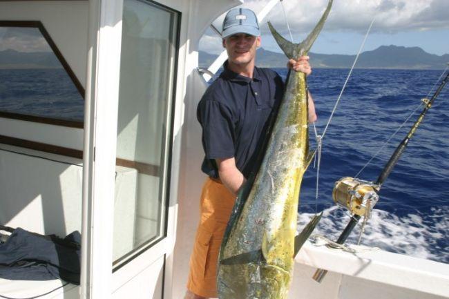Deze dorado was een nieuw record voor mij. Zo'n 160 cm. en 30 kilo