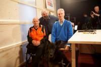 Visgids Zwolle, Ingmar Boersma (rechts) is o.a. te gast in Studio Vis TV