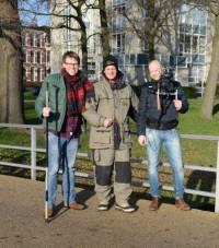 Ingmar met presentator Henk en cameraman/regiseur Robert