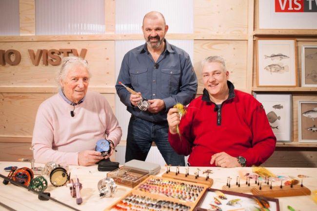 Reelbouwer Ari 't Hart (l) en vliegbinder André Miegies