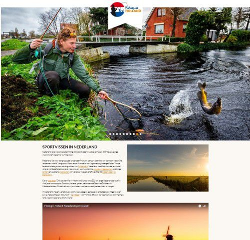De homepage van Fishinginholland