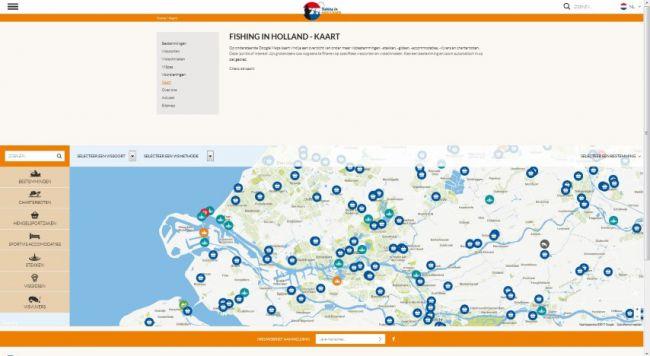 Via een interactieve kaart kun je snel winkeliers, accommodaties of visgidsen vinden