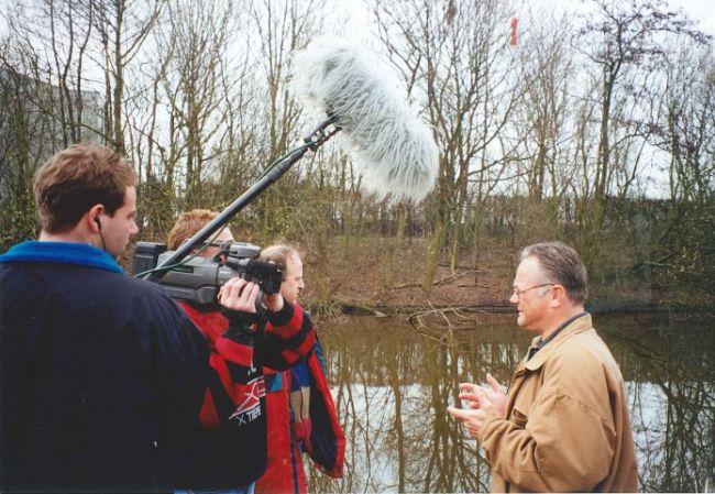 Ed tijdens zijn eerste seizoen Vis TV in 1996