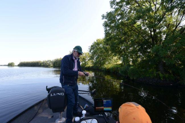 In de dril met een meter vis