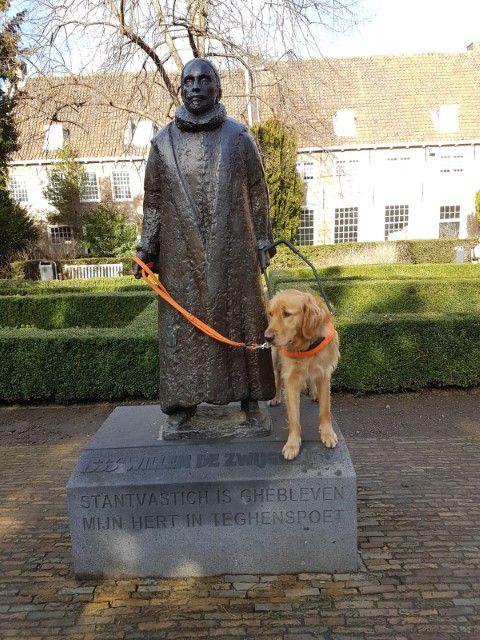 Tijdens de training natuurlijk ook even op bezoek bij Willem van Oranje