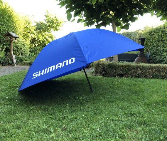 Shimano sponsort onze wedstrijd met een mooie paraplu met een waarde rond de €100,--.