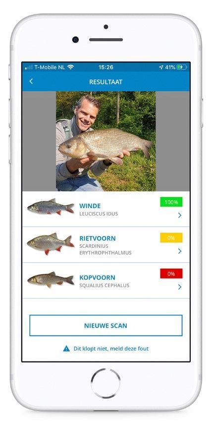 De Vissenscanner geeft direct de juiste soort