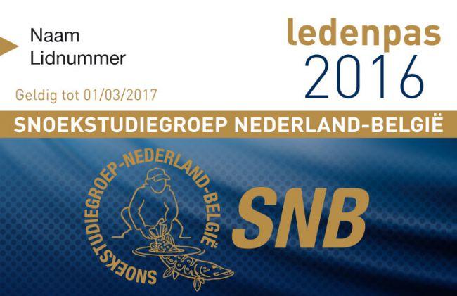 Snoekstudiegroep Nederland-België ledenpas 2016